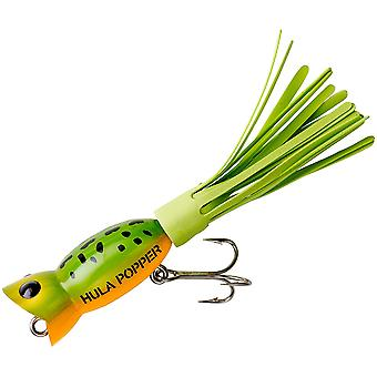 Arbogast Hula Popper 3/16 oz Fishing Lure - Frog/Yellow Belly