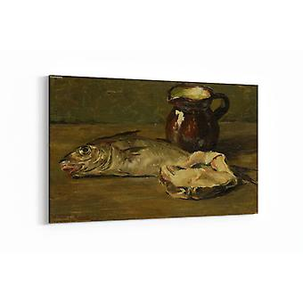 Malerei - Stillleben mit Kabeljau - 100x70cm