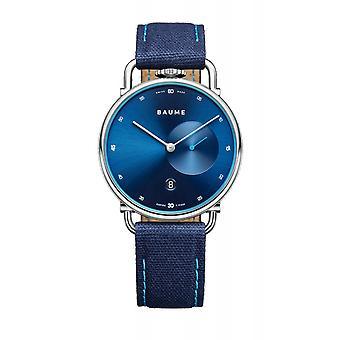 Baume & Mercier BM0A10601 μπλε ρολόι καρπών χαλαζία διαλυόντων