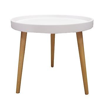 Konferenční stolek kulatý - bílý - 50x45 cm