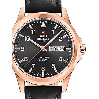 Reloj masculino militar suizo por Chrono SM34071.09, cuarzo, 40 mm, 5ATM