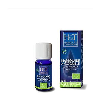 Marjoram essential oil with shell (Origanum majorana) Organic 10 ml of essential oil