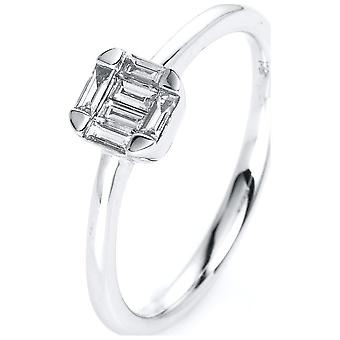 Luna Creation Promessa Ring Multiple Stone Trim 1J069W852-1 - Ringbreedte: 52