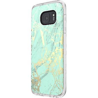 Incipio Marble Design Case för Samsung Galaxy S7 - Marmor / Teal / Guld
