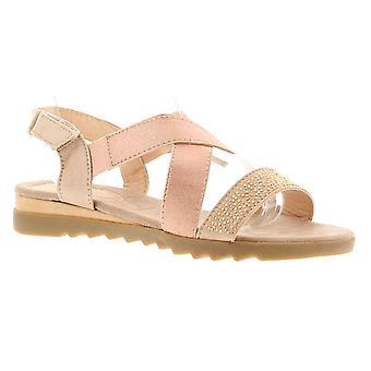 Dr Keller Saphire Womens Ladies Flat Sandals Rose Gold UK Size