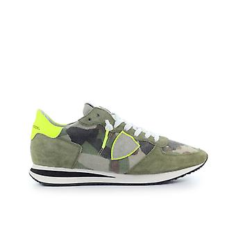 PHILIPPE MODEL TRPX CAMOUFLAGE YELLOW GREEN SNEAKER - Taglie PM Uomo: 11 UK