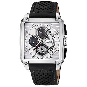 Festina f20265/1 Watch for Analog Quartz Men with Cowhide Bracelet F20265/1