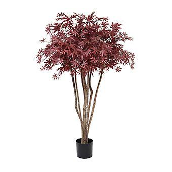 Kunstmatige Acer deluxe boom op stam 130 cm bordeaux