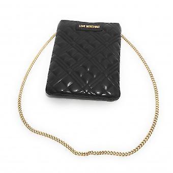 Женская сумка Любовь Moschino Плечевой ремень в эко-коже Стеганый черный B21mo102