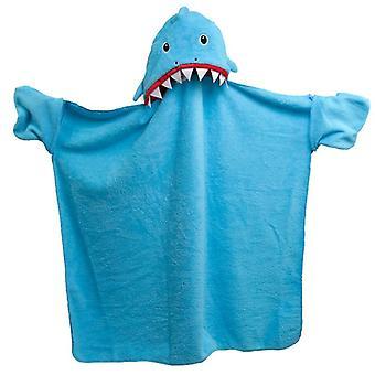 Cobertor vestível do café de tubarão azul de pelúcia