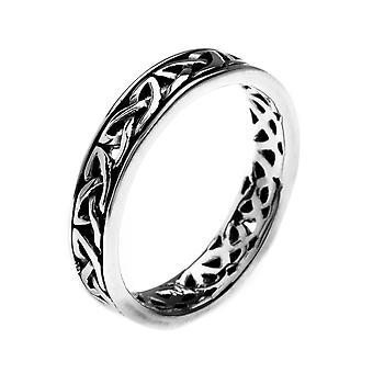 Sterling Silver Ring - Celtic Loop Knotwork Petit