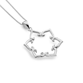 Sterling Silver Pendant Necklace - Origins Lotus Petals
