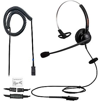 HanFei Office Phone Headset Single Ear RJ9 Call Center Telefon Headset mit Geruschunterdrckung