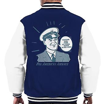 Pan Am Thank You For Flying With Pan Am Men's Varsity Jacket
