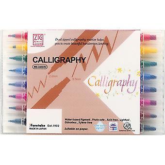 Kuretake Zig Calligraphy Pens - 8 Colour Blending Set - Assorted