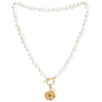 Pearls of the Orient Vita Freshwater Pearl Cherry Blossom Charm Necklace - Gold/White