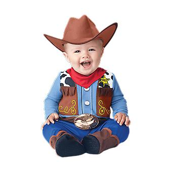 Baby Toddler Age 6 Months - 24 Months Wee Wrangler Cowboy Cowgirl Fancy Dress Costume