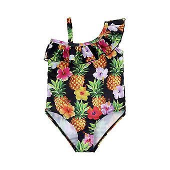 Swimsuit european  infant single-shoulder suspender for girls