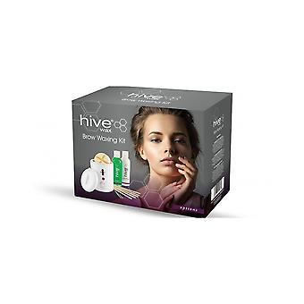 Hive Of Beauty Waxing Brow Kit - Calentador de cera Waxes Lotions Spatula & Tweezer Set