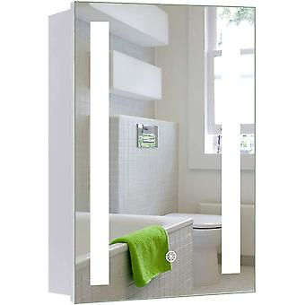 Modern Illuminated Bathroom Mirror Cabinet 600x450mm LED Bathroom Mirror with Lights Touch Switch