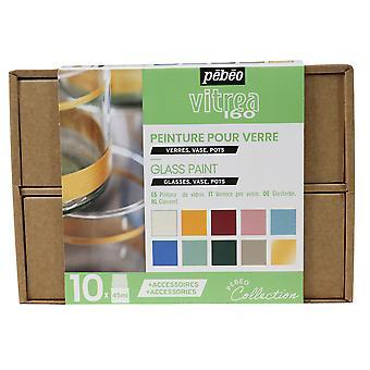 Pebeo Vitrea 160 Glasverf Collectie Set 10 x 45ml & Accessoires