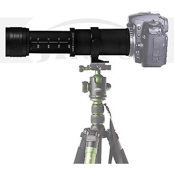 FengChun 420800mm Super-Telezoom Objektiv Manueller Fokus für Canon EOS DSLR-Kameras 2000D 4000D