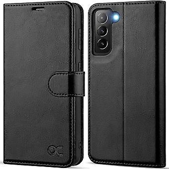 FengChun Hülle Samsung Galaxy S21+ Plus Handyhülle[Premium PU Leder] [Kartenfach] [Standfunktion]