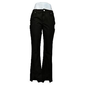 Laurie sintió pantalones de mujer falso triángulo ante hem baby bell negro A389316