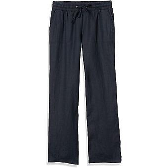 Essentials Women's Drawstring Linen Wide Leg Pant