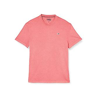 Tommy Jeans Tjm Sunfaded Wash Tee Shirt, Pink (Rosey Pink), S Man