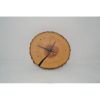 Holz Wanduhr Holzuhr Uhr Baumscheibe Baumscheibenuhr 24.5 x 22.5 cm Made in Austria Uhr Esche wallclock clock Geschenk Holzdekoration