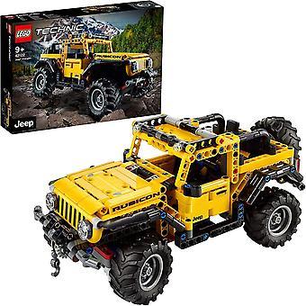 42122 Technic Jeep Wrangler 4x4 Spielzeugauto, Geländewagen, SUV Modell Bauset für Kinder und