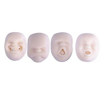 Mimigo 4pcs / set Human Face Ball Anti-stress Ball Of Japanese Design Caomaru Relax Therapy &Anxiety Relief For Child And Adults Black White