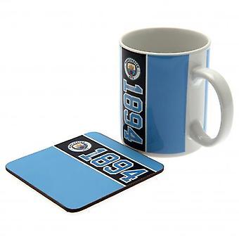 Manchester City Mug & Coaster Set