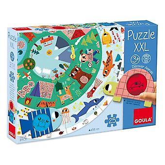 Child's Puzzle Diset XXL animals (25 Pieces)