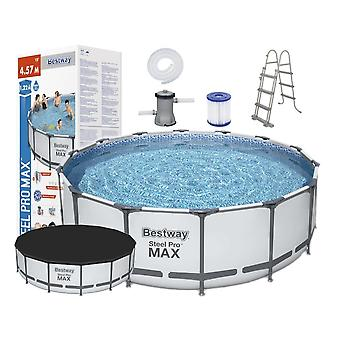 Bestway Steel Pro Max - 457 x 122 cm - täydellinen setti pumpulla