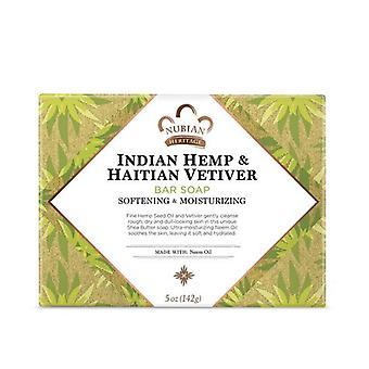 Nubian Heritage Bar Soap Indian Hemp & Haitian Vetiver