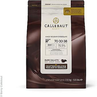 Wokex Schokolade Dunkel 70,5 Prozent Easi-Melt Buttons Callets 2,5 Kg