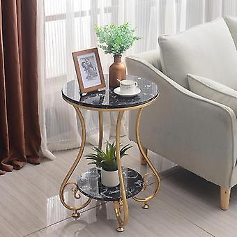 جولة الرخام والقهوة وطاولة الشاي مع طبقتين لغرفة المعيشة