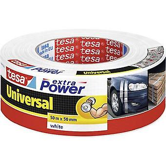 tesa UNIVERSAL 56389-00002-06 Kangasteippi tesa® ylimääräinen Power White (L x W) 50 m x 50 mm 1 kpl