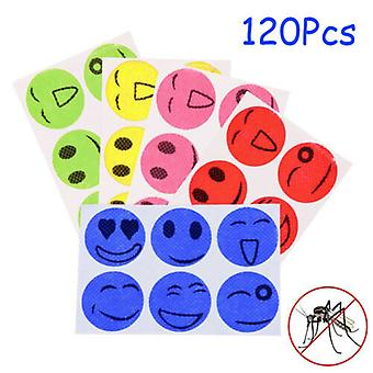 120 Pack Mosquito Repellent Patches Outdoor Insect Repellent Smiling Face Stickers For Baby Kids