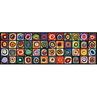 Eurographics Color Study of Squares, Kandinsky Panorama Jigsaw Puzzle (1000 Pieces)