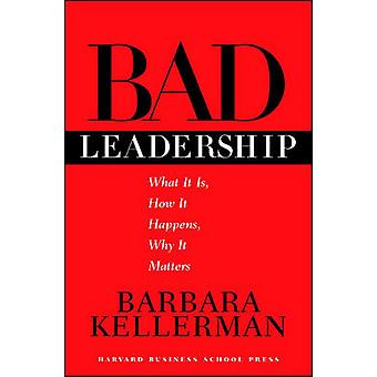 Bad Leadership What It Is How It Happens Why It Matters Leadership for the Common Good