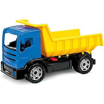 02053 Giga Trucks Muldenkipper, LKW ca. 62 cm, Starke Riesen Kipplaster, gelb/blau