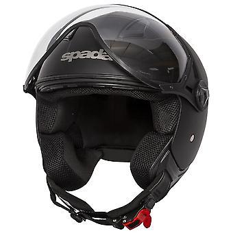 Spada Hellion Open Face Casco de motocicleta Negro Mate