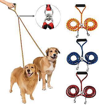 Grote hond riem dubbele riem voor twee honden nylon tangle gratis dual pet hond