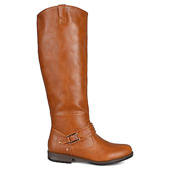 Journee Collection Womens Kai Closed Toe Knee High Fashion Boots