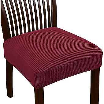 تمتد جاكار كرسي مقعد يغطي لغرفة الطعام كرسي كرسي الانزلاقات القابلة للغسل كرسي مقعد وسادة الانزلاقات، بورجوندي
