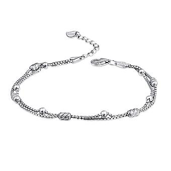 Silver plating Double Layers Adjustable Bead Tennis Bracelets Chains For Women Party Jewelry
