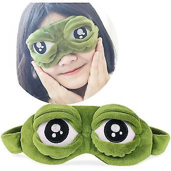 Kikker slaap oogmasker grappige blinddoek haar gesp haar band voor slaaprust